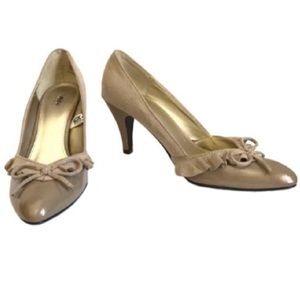 Mossimo Faux Suede and Patent Leather Heels